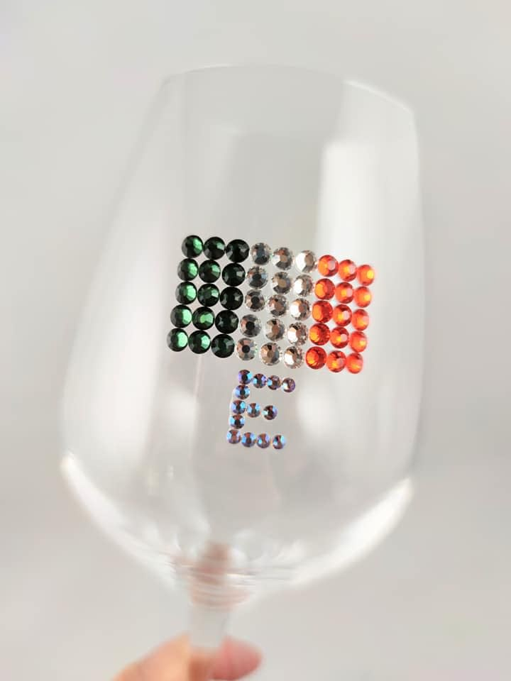 Personalised E Wine Glass