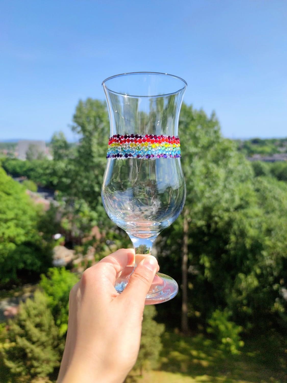 Pride Rainbow Glass