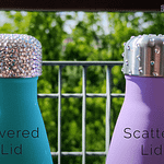 Rhinestone Covered vs Scattered Bottle Lids