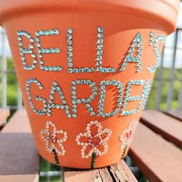 Personalised Sparkle Plant Pot