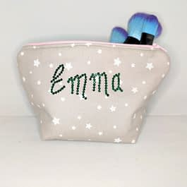 Personalised Sparkle Make-up Bag