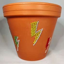 Lightning Bolt Plant Pot