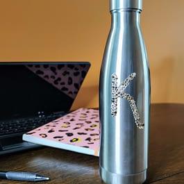 Personalised Rhinestone Bling Water Bottle