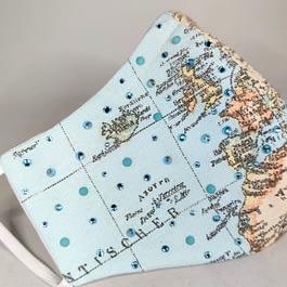 World Map Face Mask