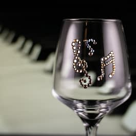 Music Note Glass