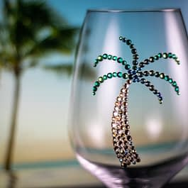 Palm Tree Glass