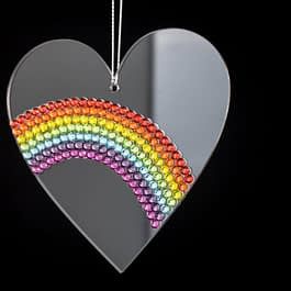 Rhinestone Pride Rainbow Hanging Decoration