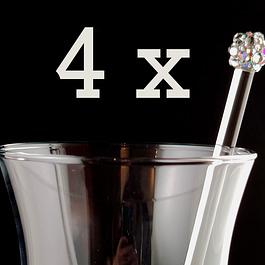 Set of 4 Custom Cocktail Stirrers