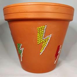 Lightning Bolt Plant Pot