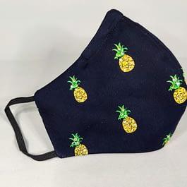 Rhinestone Pineapple Face Mask