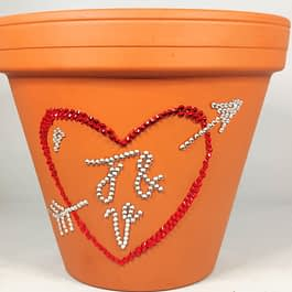 Personalised Love Heart Plant Pot