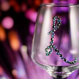 Personalised Initial Glass