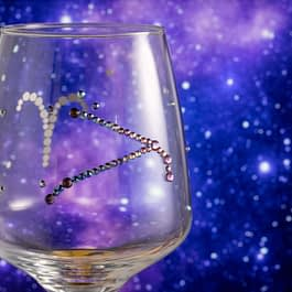 Customised Star Sign Glass