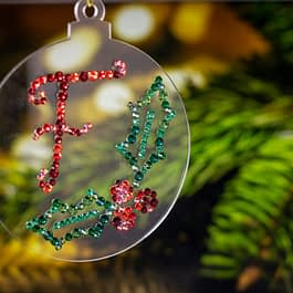 Personalised Holly Leaf Christmas Decoration