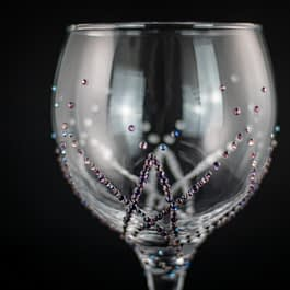 Overlapping Diamonds Glass