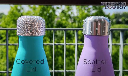 Rhinestone Covered vs Scattered Bottle Lids