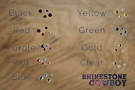 Rhinestone Colour Chart