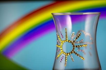 Sparkly Sun and Rain Glass