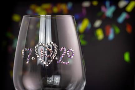 Wedding Date Sparkle Glass