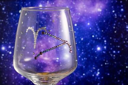 Sparkle Zodiac Glass