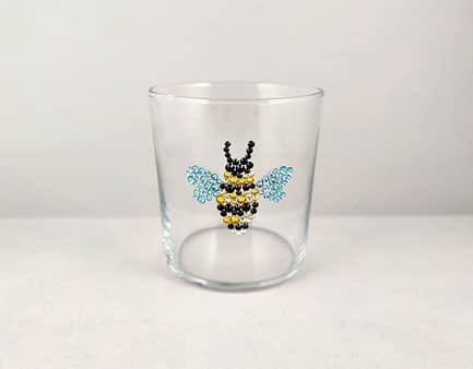Sparkle Bumble Bee Glass