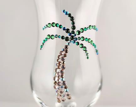 Sparkle Palm Tree Glass