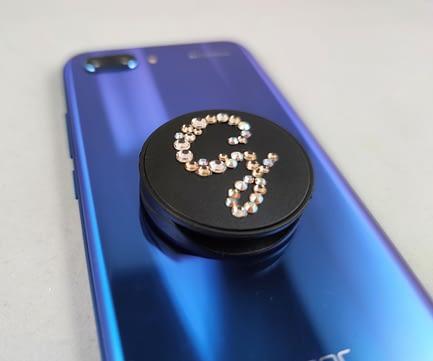 Black Initial Phone Pop