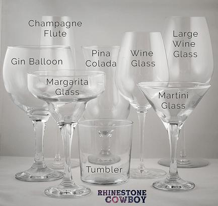 Rhinestone Cowboy Glass Types