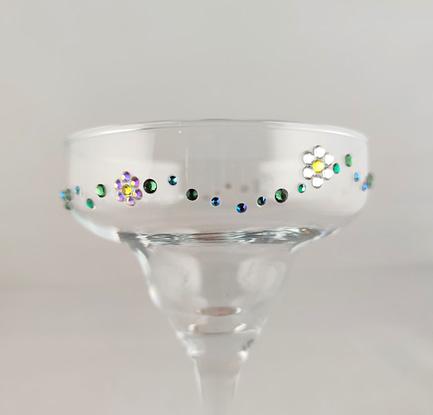 Daisy Chain Rhinestoned Glass