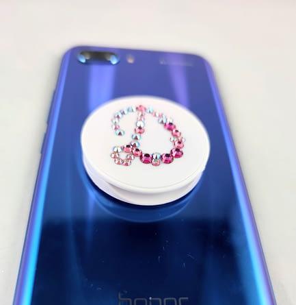 White Initial Phone Pop