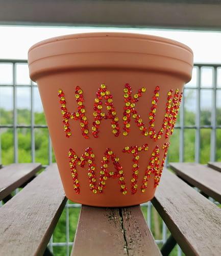 Hakuna Matata Rhinestone Plant Pot