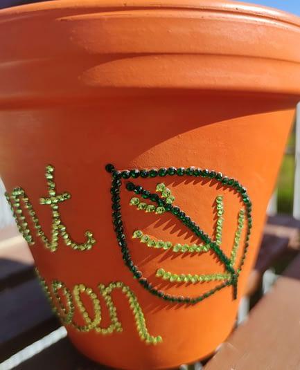 Plant Queen Sparkle Rhinestone Plant Pot