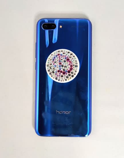 White Initial Covered Phone Pop