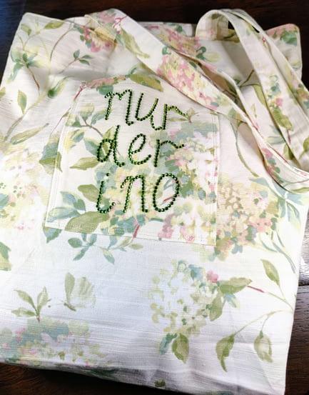 Sparkly Murderino Tote Bag