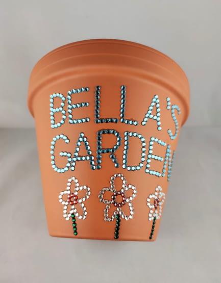 Personalised Sparkle Plant Pot