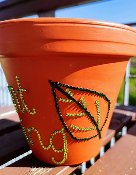 Plant King Sparkle Rhinestone Plant Pot