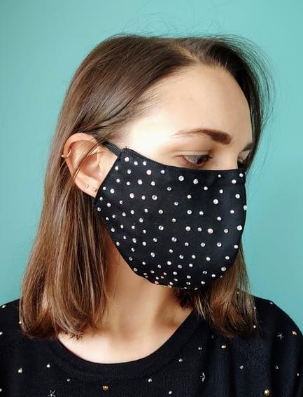 Bling Rhinestoned Face Mask