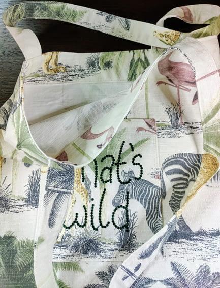 That's Wild Rhinestone Tote Bag