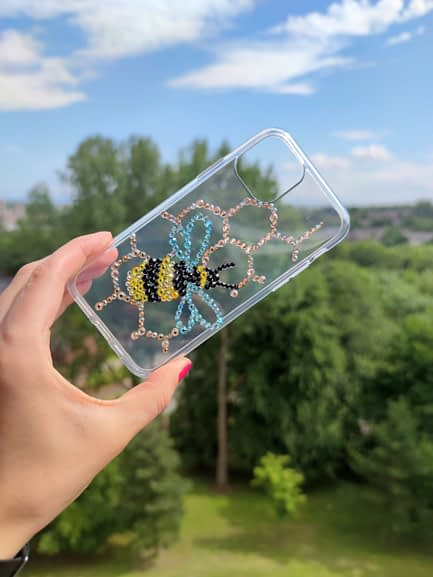 Rhinestone Bumble Bee Phone Case