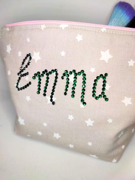 Personalised Sparkle Make-up Bag