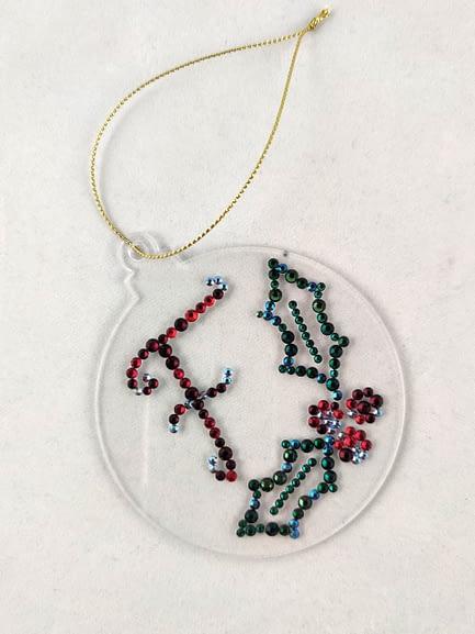 Personalised Rhinestone Christmas Decoration