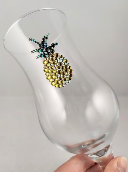 Pineapple Sparkle Glass