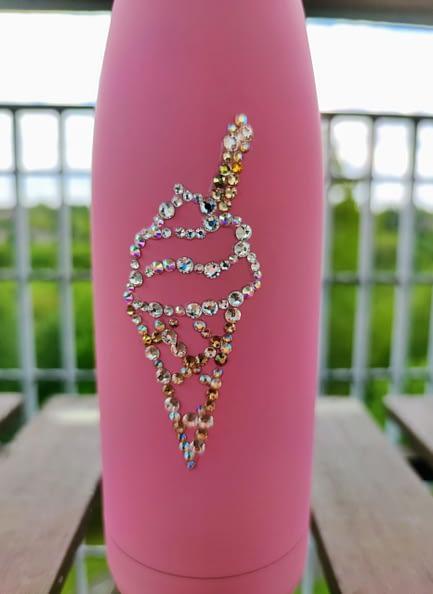Ice cream sparkle water bottle