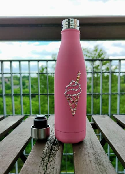 Ice cream sparkle water bottle