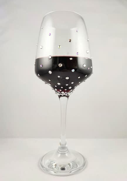 Scatter Crystal Wine Glass