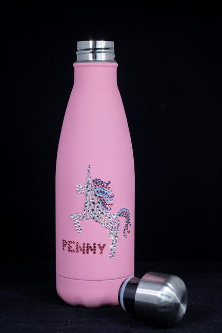 Rhinestone Unicorn Water Bottle